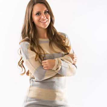 Twig Striped Sweater by Olive & Oak