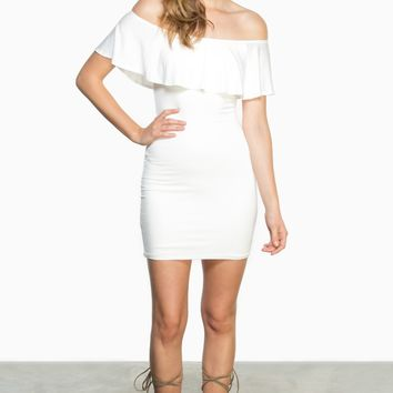 ShopSosie Style : Santana Dress in Ivory