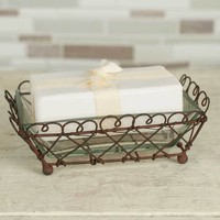 Set of 4 Looped Square Soap Dish