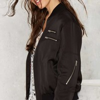 Nasty Gal Not Today Satin Bomber