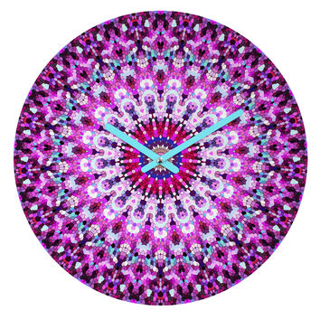 Monika Strigel Pink Arabesque Round Clock