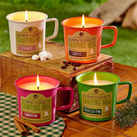 Candle Camping Mug Outdoors Scents S'Mores Coffee Cinnamon Fresh Pine Great Gift