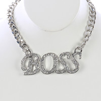 Chunky Boss Bib Necklace