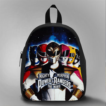 Power Ranger Mighty Morphin The Movie, School Bag Kids, Large Size, Medium Size, Small Size, Red, White, Deep Sky Blue, Black, Light Salmon Color