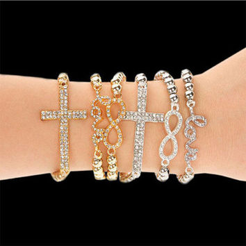 Gold & Silver Plated Cross Bracelets
