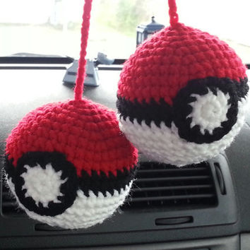Pokeball Car Mirror Danglers