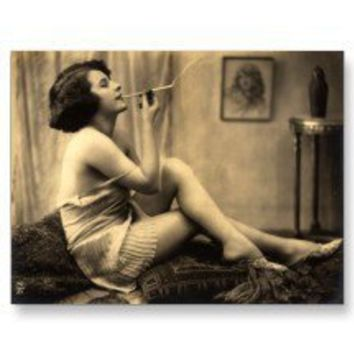 Vintage Naughty French Pin Up Girl Photograph Post Cards