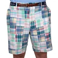 Pastel Patchwork Madras Shorts by Country Club Prep