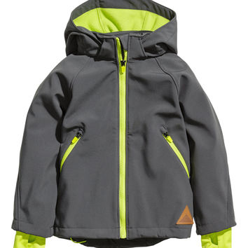H&M - Soft Shell Jacket - Dark gray - Kids