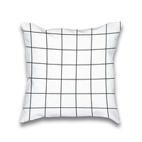 AvaWilde Simple Hipster Square Grid Pattern Throw Pillow