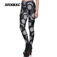 New 3869 Sexy Girl SpellBound ouija witchcraft Sun Prints Elastic Slim Fitness Workout Women Leggings Trousers Pants Plus Size
