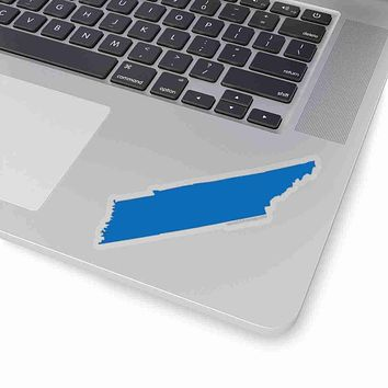 Tennessee State Shape Sticker BLUE
