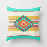FIESTA (teal) Throw Pillow by Bianca Green | Society6