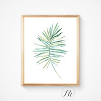 Nature, Leaf, Leaf print, Modern art, Digital print, Tropical leaf, Wall art, Printable wall art, printable art, Palm art print, Leaf art