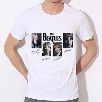 Men women lovers Oneck t-shirt Summer New Style the beatles t shirts famous band rock and roll T Shirt 19-27#