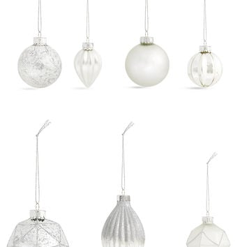 Set of 20 Luxury Silver Glass Baubles | Marks & Spencer London