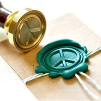 Peace Gold Plated Wax Seal Stamp x 1