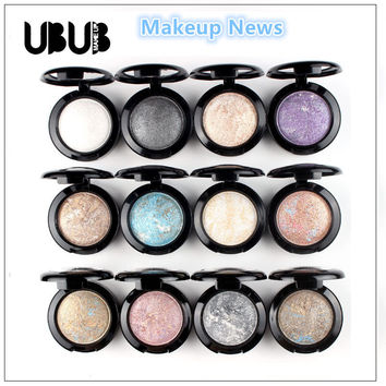 12pcs/lot Single Baked Eye Shadow Powder Makeup Palette in Shimmer Metallic Glitter Cream Eyeshadow Palette By UBUB News
