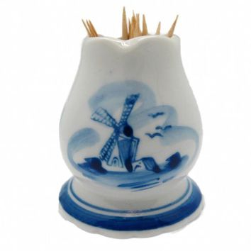 Delft Ceramic Toothpick Holder