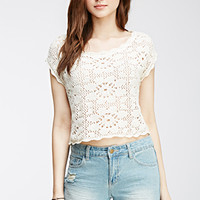 Open Knit Crop Top
