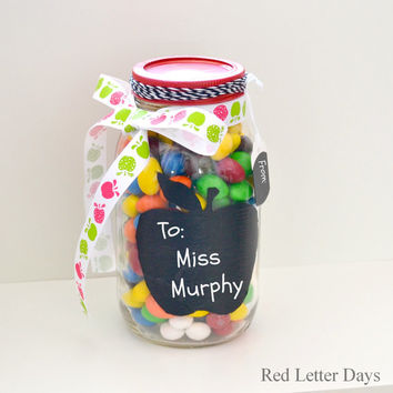 Teacher Gift, Chalkboard Mason Jar, Teacher Appreciation Day