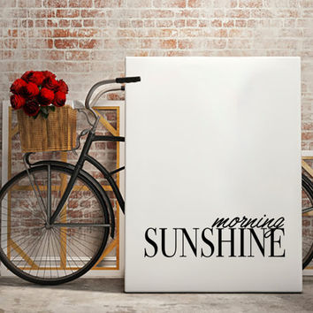 Affiche Fashion Quote MORNING SUNSHINE Print, Inspirational Quote, Funny Wall Art, Girl Room Decor Instant Download TYPOGRAPHY