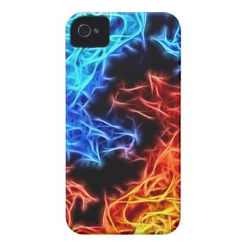 flames of good and evil iPhone 4 cover