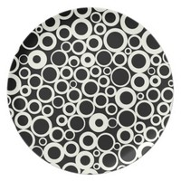 Black and White Melamine Plates