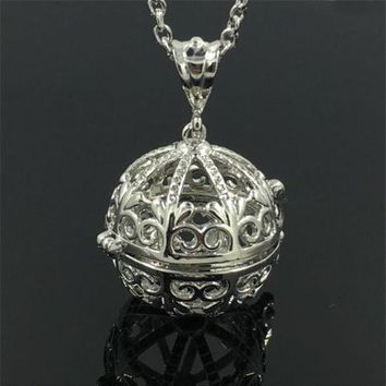 Silver-Locket-Necklace-Fragrance-Essential-Oil-Aromatherapy-Diffuser-Pendant Locket w/Chain 2017