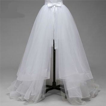 high quality only fives layers of silky organza detachable train not included wedding dress