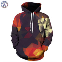 Mr.1991INC Men/Women Hoodies With Hat Hoody Print Color Blocks Autumn Winter Thin 3d Sweatshirts Hooded Hood Tops