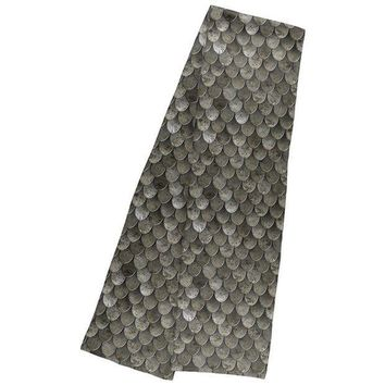 ESBGQ9 Halloween Steel Scale Armor Warm Fleece Scarf