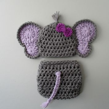 Dark Grey Baby Girl Elephant Outfit Newborn Photo Prop