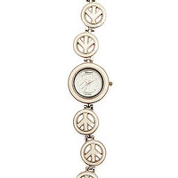 MKL Accessories Watch Linked Peace in White