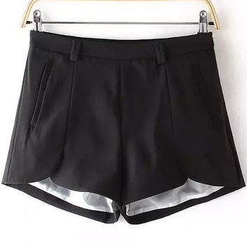 Black Short Culottes