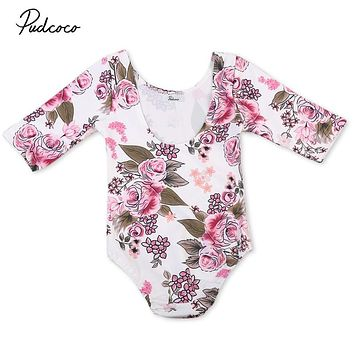 Baby Girls Floral Romper Kids Baby Girls Toddler Long Sleeve Rompers  New Arrival Fashion Jumpsuit Clothes Outfits