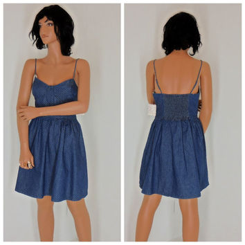 Free People denim sun dress, sze M