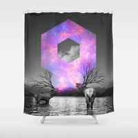 Made of Star Stuff Shower Curtain by Soaring Anchor Designs