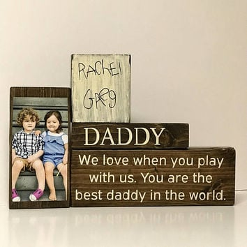 Christmas gift for dad, dad gift, personalized gift, daddy gift, dad sign, kids to dad gift, father gift, to my dad, photo on wood, for him