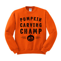 Pumpkin Carving Champ Crewneck Sweatshirt