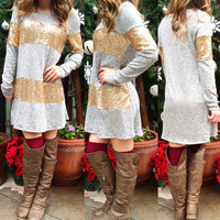 ALL IS BRIGHT SWEATER TUNIC IN GREY