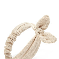 Knotted Loose-Knit Headwrap