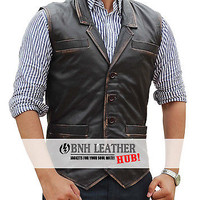 Hell on Wheels Cullen Bohannan Real Leather Vest - Best Deal