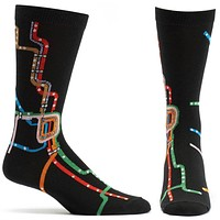 Chicago CTA L Map Mens Sock