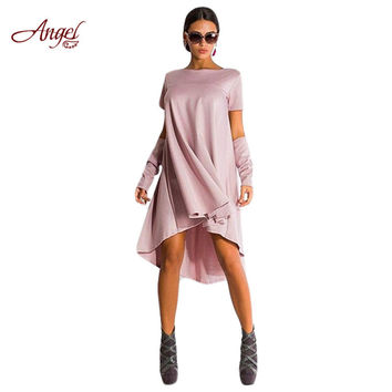 New Spring and Autumn Brand Midi Angel KYLIE JENNER Women Dress