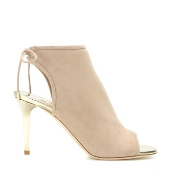 Fortis open-toe suede ankle boots