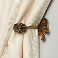 Brass Zinnia Tieback by Anthropologie in Bronze Size: One Size House & Home