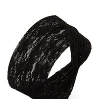 FOREVER 21 Floral Lace Headwrap