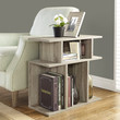 "Dark Taupe Reclaimed-Look 24""H Accent Side Table"