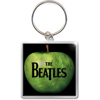 Beatles Metal Key Chain Silver